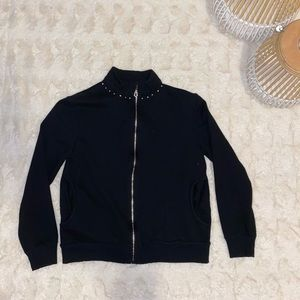 Onque Casuals Black Bedazzeled Jacket Size Small